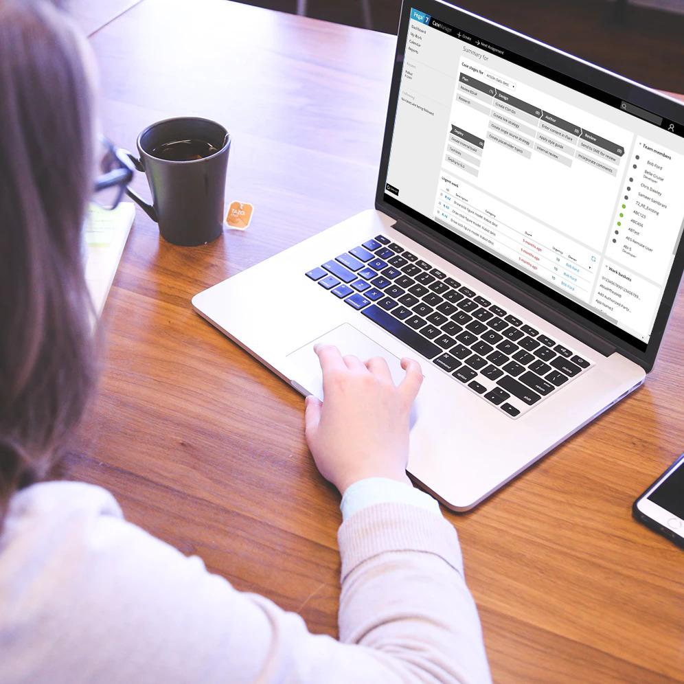Pega web interface platform